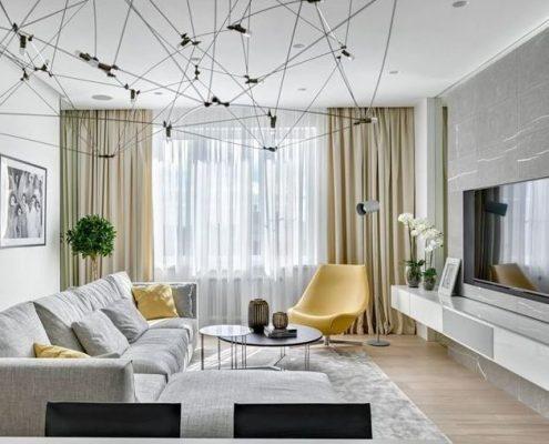 Canviar una estada amb cortines